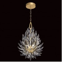 Fine Art Lamps 881640-1ST Lily Buds 3 Light 19 inch Gold Chandelier Ceiling Light