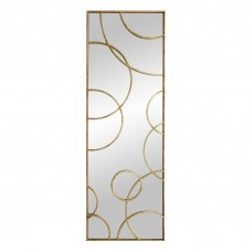 Arteriors 4624 Nikita 88 X 30 Inch Gold Leafed Iron Floor Mirror, Right