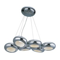 ET2 E22596-PC Donuts LED 18 inch Polished Chrome Chandelier Ceiling Light