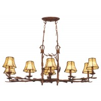 Kalco 3038PD/8045 Ponderosa 8 Light 47 inch Ponderosa Chandelier Ceiling Light