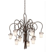 Kalco 4309AC/FROST Tribecca 9 Light 30 inch Antique Copper Chandelier Ceiling Light in Frost