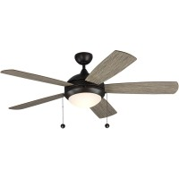 Monte Carlo Fans 5DIC52AGPD Discus Classic 52 inch Aged Pewter with Light Grey Weathered Oak Blades Indoor Ceiling Fan