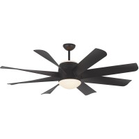 Monte Carlo Fans 8TNR56BKD-V1 Turbine 56 inch Matte Black with Black Blades Indoor Ceiling Fan