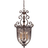 St. Laurence 3 Light 15 inch New Tortoise Shell With Silver Pendant Ceiling Light 7-3006-3-8
