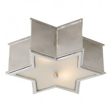 Visual Comfort Alexa Hampton Sophia Small Flush Mount in Polished Nickel with Frosted Glass AH4016PN-FG