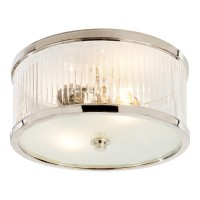 7093ce112ff Visual Comfort Alexa Hampton Randolph Small Round Flush Mount in Polished  Nickel with Crystal and Frosted
