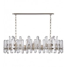 Visual Comfort ARN5127PN-CG AERIN Bonnington 24 Light 55 inch Polished Nickel Linear Chandelier Ceiling Light