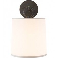 Visual Comfort Barbara Barry French Cuff Sconce in Bronze with Silk Shade BBL2035BZ-S