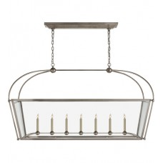 Visual Comfort CHC5438AN-CG E. F. Chapman Plantation 7 Light 54 inch Antique Nickel Linear Pendant Ceiling Light, Large