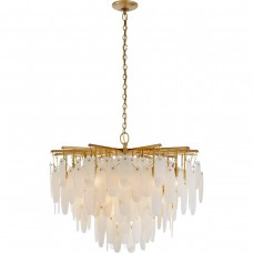 Visual Comfort CHC5911AB-ALB Chapman & Myers Cora LED 41 inch Antique-Burnished Brass Waterfall Chandelier