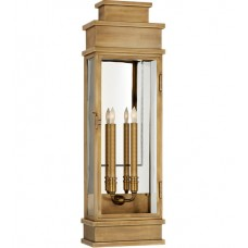 Visual Comfort CHD2911AB-CG E. F. Chapman Linear 2 Light 29 inch Antique-Burnished Brass Outdoor Wall Lantern, Large