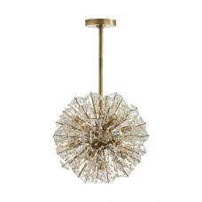 Visual Comfort Dickinson Small Chandelier in Soft Brass with Clear Glass and Cream Pearls KS5004SB-CG