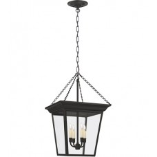 Visual Comfort E.F. Chapman Cornice Small Hanging Lantern in Black Rust SL5871BR