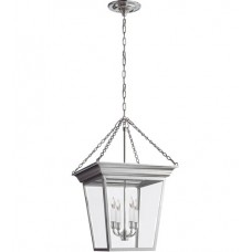 Visual Comfort E.F. Chapman Cornice Small Hanging Lantern in Polished Nickel SL5871PN