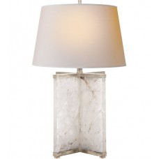Visual Comfort SP3005Q/BSL-NP J. Randall Powers Cameron 28 inch 150 watt Natural Quartz and Burnished Silver Leaf Table Lamp Portable Light