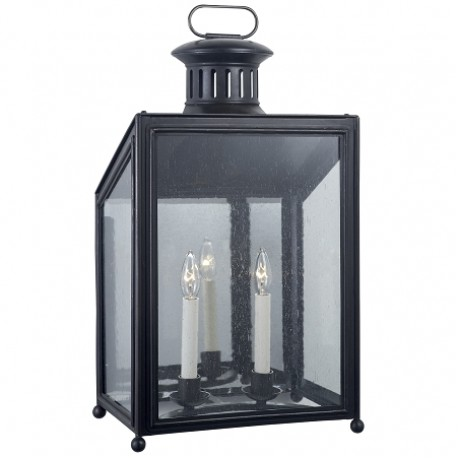 Visual Comfort RL2801AI-RG Ralph Lauren Mills Medium Wall Lantern In Aged Iron With Restoration Glass