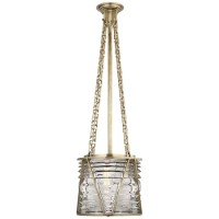 Visual Comfort RL5147NB-CG Ralph Lauren Chatham Small Pendant In Natural Brass With Clear Glass