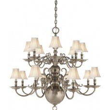Visual Comfort RL5206BS Ralph Lauren Lillianne Double Tiered Chandelier In Butler's Silver