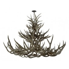 Visual Comfort RL5530BN Ralph Lauren Straton Triple Tier Chandelier In Natural Antler