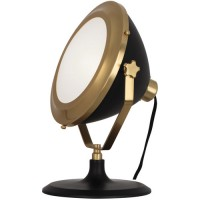 Robert Abbey 1580 Apollo 13 inch 60 watt Antique Brass with Matte Black Painted Accent Lamp Portable Light