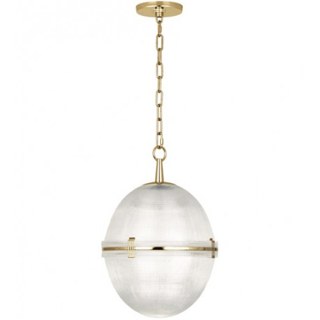 Robert Abbey 3393 Brighton 1 Light 13 inch Modern Brass Pendant Ceiling Light in Antique Brass