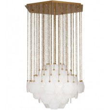 Robert Abbey 865 Jonathan Adler Vienna 3 Light 27 inch Antique Brass Chandelier Ceiling Light