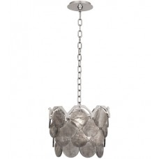 Robert Abbey S1895 Hope 4 Light 14 inch Polished Nickel Pendant Ceiling Light in Smoky Rock Crystal