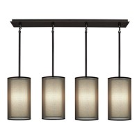 Robert Abbey Z2155 Saturnia 4 Light 44 inch Deep Patina Bronze Chandelier Ceiling Light in Bronze Transparent With Ascot White