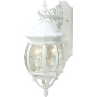 Artcraft AC8361WH Classico 3 Light 20 inch White Outdoor Wall Lantern
