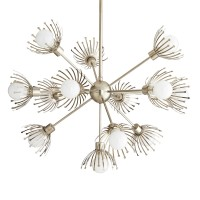 Arteriors 89121 Murphy 13 Light 36 Inch Chandelier In Vintage Silver