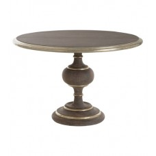 Arteriors 2486 Huxley 48 inch Washed Gray and Antique Silver Dining Table
