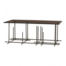 Arteriors 2659 Hatch 42 X 17 inch Bronze Cocktail Table