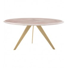 Arteriors 2734 Essex 36 inch Gold Leaf/Rose Quartz Cocktail Table, Round