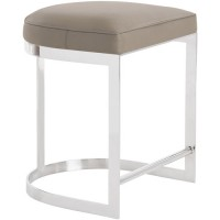 Arteriors 2858 Howell 24 inch Polished Nickel Counter Stool