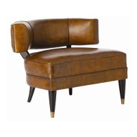 Arteriors 2996 Laurent Mottled Brown and Mahogany Accent Chair