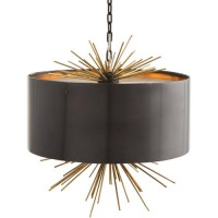 Arteriors 46831 Patton 3 Light 20 inch English Bronze and Brass Pendant Ceiling Light