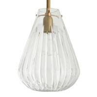 Arteriors 46989 Romo 1 Light 10 Inch Clear Glass/Antique Brass Ceiling Pendant
