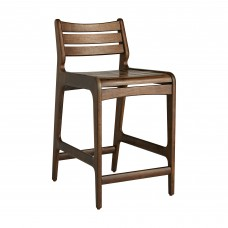 Arteriors 5080 Reynolds 34 Inch Walnut Wood Counter Stool
