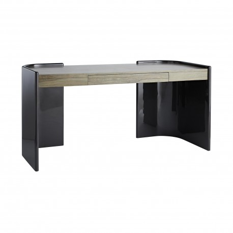 Arteriors 5081 Parnell 65 Inch Charcoal Lacquer/Chateau Gray Finished Ofram Veneer Desk