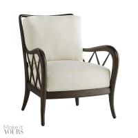 Arteriors 5507 Nicola 35 Inch Muslin/Umber Stained Finish Solid Maple Accent Chair