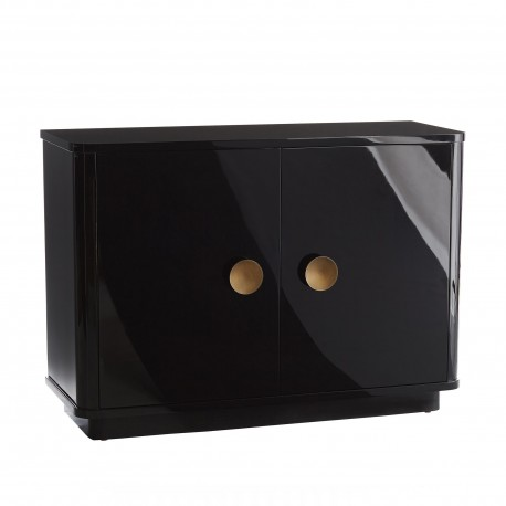 Arteriors 5512 Kennedy Black Lacquered Solid Oak/Antique Brass Chest