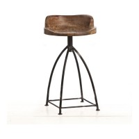 Arteriors 6535 Henson 29 inch Sandblast Antique Wax and Natural Iron Counter Stool