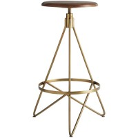 Arteriors 6699 Wyndham 30 inch Natural Wax and Vintage Brass Swivel Bar Stool