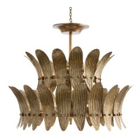 Arteriors 84310 Analise 8 Light 26 inch Vintage Brass/Frosted Acrylic Diffuser Chandelier Ceiling Light