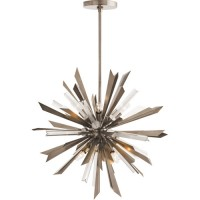 Arteriors 89028 Waldorf 8 Light 24 inch Vintage Silver Chandelier Ceiling Light, Small,Round