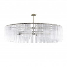 Arteriors 89423 Royalton 60 Inch Large Chandelier In Soft Silver/Clear