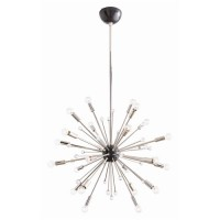 Arteriors 89977 Imogene 24 Light 26 inch Polished Nickel and Bronze Chandelier Ceiling Light, Small