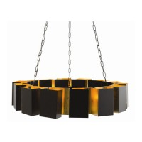 Arteriors 89995 Vaughn 14 Light 39 inch Bronze and Gold Leaf Chandelier Ceiling Light, Fixed
