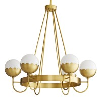 Arteriors DC89002 Cleo 6 Light 32 Inch Antique Brass Chandelier