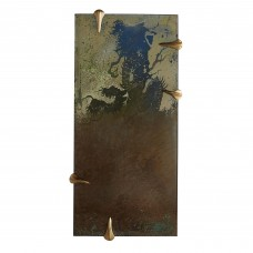 Arteriors DD2084 Talon 47 X 23 Inch Antiqued Dragon Etched Wall Mirror